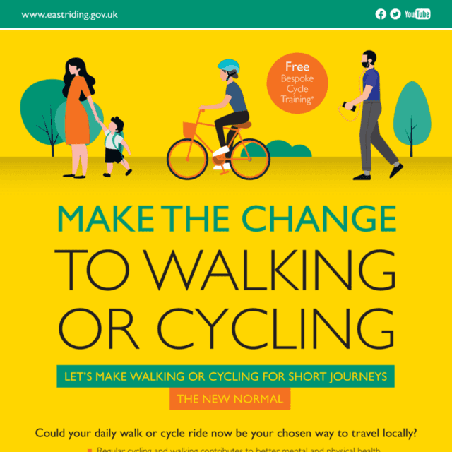 Cycling and Walking Campaign   Ad artwork   Cycle and Walk REVC