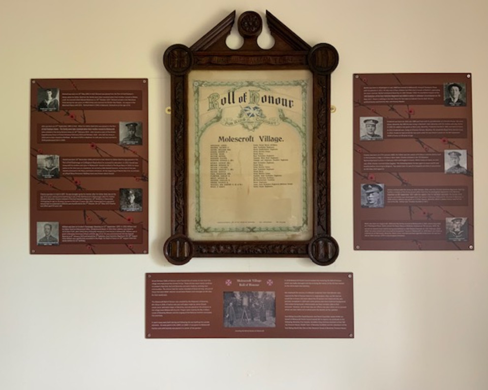 Molescroft Village Roll of Honour & Memorial Boards
